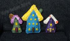 Dollhouse Miniature Tiny House Throw Pillows - Unique 1/12th Scale Set of 3