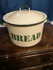 Vintage Enamelled Bread Bin Metal