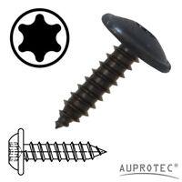 Blechschrauben Flachkopf mit Scheibe TORX schwarz verzinkt 3,9 - 4,8 mm DIN 7049