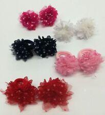 ELASTICI per capelli coppia fermacoda elastico in tulle con pois colori vari