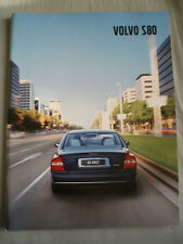 Volvo S80 range brochure c2001 German text