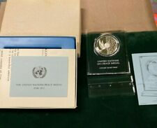 New ListingUnited Nations 1973 Peace Medal Silver Proof