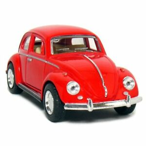 "New 5"" Kinsmart 1967 Volkswagen Classical Beetle Diecast Model Toy Car 1:32 Red"