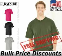 Bayside Mens Cotton Blank USA-Made Short Sleeve T Shirt 5100 up to 5XL
