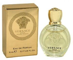 Versace Eros Pour Femme For Women Eau de Parfum 0.17 oz ~ 5 ml MINI EDP Splash