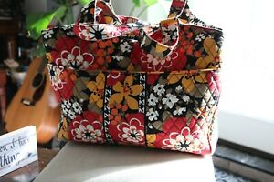 VERA BRADLEY Laptop Carryall Bag BITTERSWEET Travel Tote Handbag
