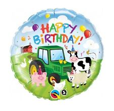 "TRACTOR/FARM(18"")Happy Birthday! Foil Balloon{HF HB ZA}"