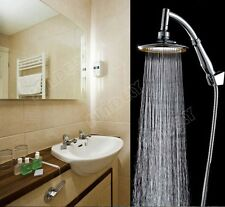"""New 6"""" ABS Chrome Rainfall Shower Head Extension & Shower Arm and Hose Kit"""
