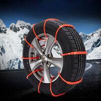 10stk Anti-Rutsch Reifen Ketten Notfall Traktion Auto Schnee Regen Rad Kabelbind