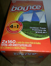 BOUNCE FABRIC SOFTENER DRYER SHEETS BIG 320ct BOXES SALE!