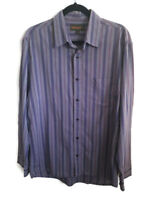 "Mens Timberland Purple Stripe Long Sleeve Shirt Size Large 42"" Chest Casual"