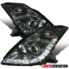Fit 06-09 350Z Smoke HID Type 8-Pin Projector Headlights Pair w/LED