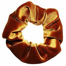 Toffee Velvet Scrunchie Ponytail Holder Hair Accessories Made in the USA