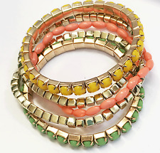 Assorted fun candy color multi strands stretch bracelet