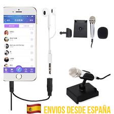 Mini Micrófono movil Karaoke Música cantar Juego Diversión cantar Conexión Jack