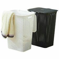 Wäschebox 85 Liter Wäschekorb Wäschetonne Wäschetruhe mit Deckel