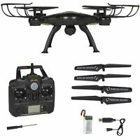 X5SW-1 Wifi FPV 2.4GHz RC Quadcopter Drone con 2 MP HD cámara RTF UAV negro dron