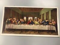 JESUS THE LAST SUPPER CALENDAR PRINT ORIGINAL VINTAGE