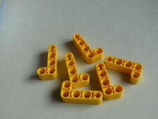 Lego 6 bras levier jaunes set 9391 8441 8453 10248  / 6 yellow liftarm 2-4 L