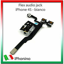 IPHONE 4S CAVO FLAT FLEX CONNETTORE JACK AUDIO TASTO VOLUME MUTE BIANCO