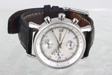 DKNY TACHYMETER NY-4527 ATM MOTHER OF PEARL DIAL BLACK BAND WRIST WATCH 4789B