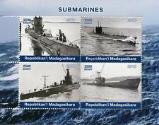 Madagascar 2018 CTO Submarines 4v M/S Boats Ships Nautical Stamps