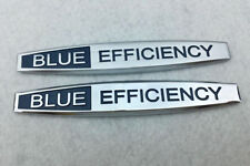 2X BLUE EFFICIENCY LETTER STICKER TRUNK SIDE FENDER BADGE EMBLEM MERCEDES BENZ