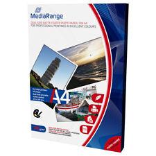 MediaRange A4 CARTA FOTOGRAFICA PAT OPACA Fronte-Retro 200g 50 fogli MRINK102