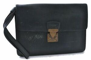 Authentic Louis Vuitton Taiga Kourad Clutch Hand Bag Green M30194 LV B9581
