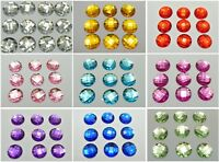 100 Acrylic Flatback Faceted Round Rhinestone Gems 16mm No Hole Pick Your Color
