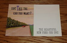 1942 Ford Full Line Foldout Sales Brochure 42 Convertible Coupe Station Wagon