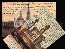 1904 RUSSIA CHURCH IN DARMSTADT & FRANZENSBAD 2 DIFFERENT POSTCARDS POSTAGE DUE