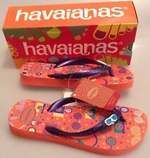 HAVAIANAS KIDS FUN FLIP FLOPS- SALMON - BRANDS NEW - SIZE 29/30 - SIZE UK 12