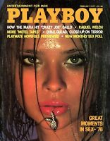 Playboy Magazine February 1977 - Raquel Welch, Great Moments in Sex - Star Stowe