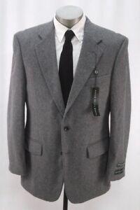 NEW charcoal OSCAR DE LA RENTA blazer jacket cashmere wool sport suit coat 42 R
