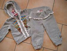 (C209) Nolita Pocket Baby Kombination Sweatjacke & Hose mit Logo Druck 9-12 Mon