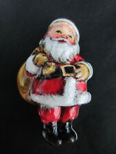 1970s Hallmark Christmas pin brooch old timey Santa with sack in package