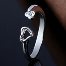 2pcs Adjustable Love Heart Wrap Ring Thumb Special Jewelry Unique Gifts Women