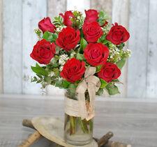 Fresh Flowers Delivery Sydney- 10 Beautiful Premium Roses- Valentines/Birthday