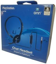 Official PlayStation 4 Chat Headset PS4 Gaming Headphones Windows PC Xbox One X