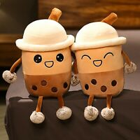 Milk Tea Plush Pillow Stuffed Cartoon Pillow Cup Shaped Doll Cute Soft Hugging