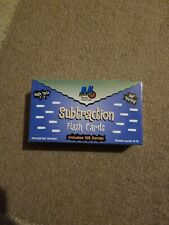 105 Math Flash Cards Facts 0-9, Elementary School Subtraction Self-teaching New