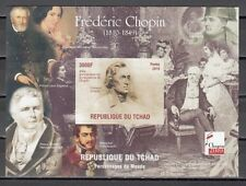 Chad, 2010 Cinderella issue. Composer Frederick Chopin, IMPERF s/sheet.  #3