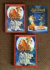 Dvd+Blu-ray Walt Disney's Lady and the Tramp ll Scamp's Adventure like new!!