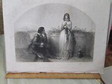 Vintage Print,FIRST LOVE, JENKINS,Art Journal,1855