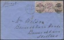 Victoria: 26 Mar. 1884 MELBOURNE to U.K. cover franked 6d. Transit Time: 42 days