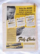 1948 VTG Orig Magazine Ad Hunting Ventilated Poly-Choke Shotgun Shooting Model