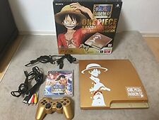 One Piece PlayStation 3 Console Japan Gold Limited Edition EXCELLENT Rare