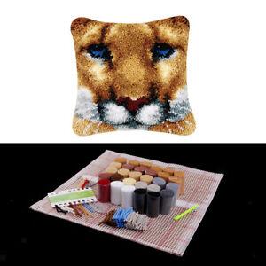 1 Set Kissen-Knüpfer-Kits Materialpaket für Kinder Erwachsene Leopard