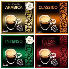 100 Capsules Compatible Nespresso Machine! ARABICA,CLASSICO,INTENSO,X-STRONG!